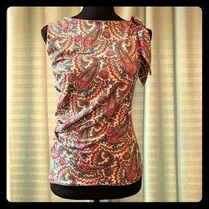 Moda International paisley blouse, sz M